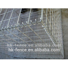 2x1x0.5m welded gabion baskets connected with spring steel lacing wire